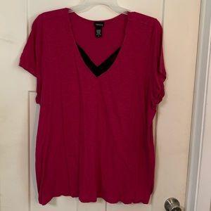 Torrid size 4 V Neck with lace detail